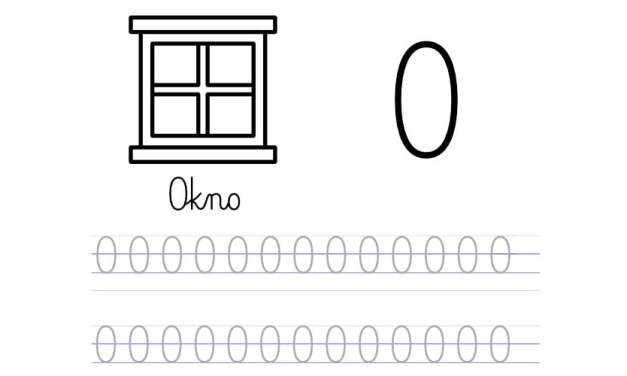 Pisanie po śladzie w liniaturze: Litera O (3 karty pracy)