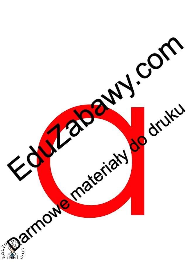 Czerwona samogłoska A do alfabetu szorstkiego Alfabet (Nauka pisania) Nauka pisania Nauka pisania litery A