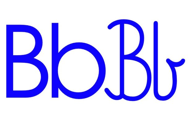 Niebieska spółgłoska B do alfabetu szorstkiego