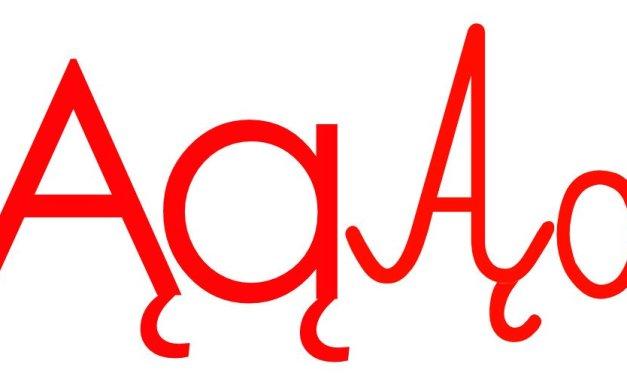 Czerwona samogłoska Ą do alfabetu szorstkiego