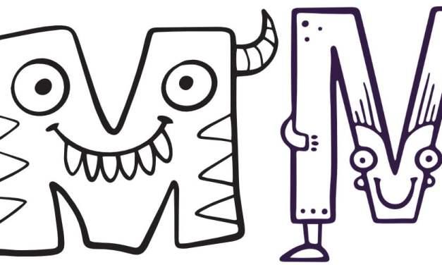 Litera M: kolorowanki do wydruku