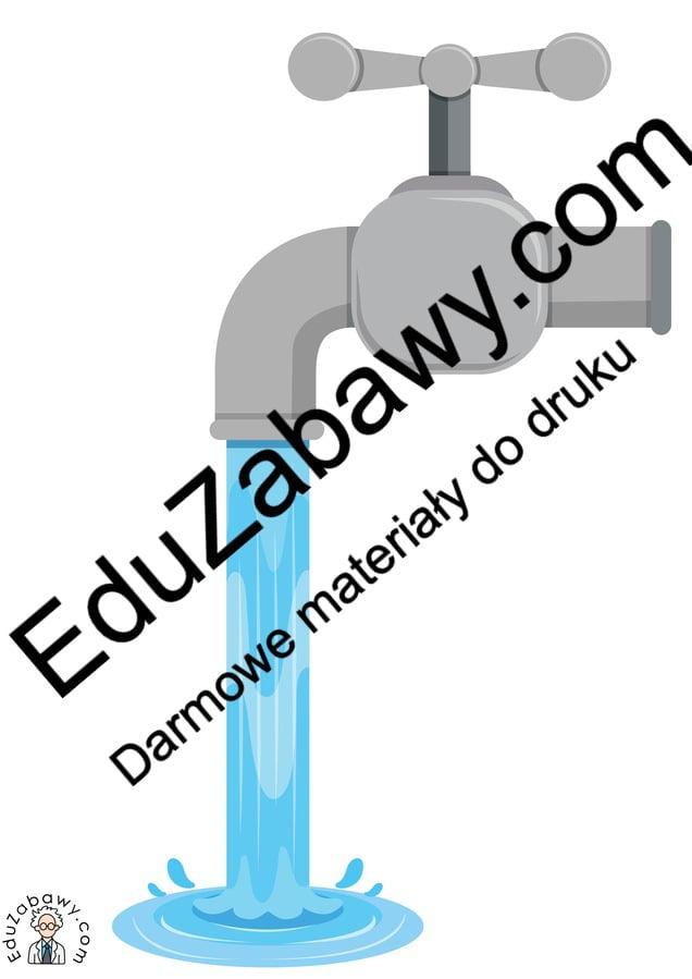 Dekoracje: Kran z wodą (8 szablonów) Dekoracje Dekoracje (Dzień Wody)