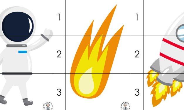 Kosmos: Puzzle 3 elementy (10 kart pracy)