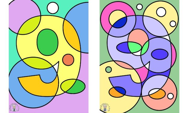 Ukryta cyfra 9 w rysunku do kolorowania