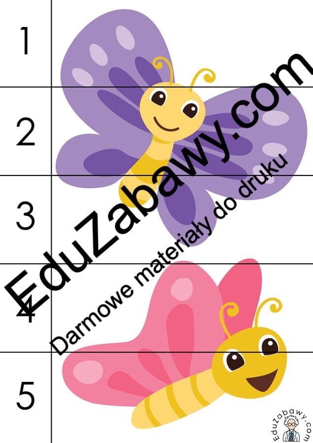 Wiosna: Puzzle 5 elementów (10 kart pracy) Karty pracy Karty pracy (Wiosna) Puzzle Wiosna