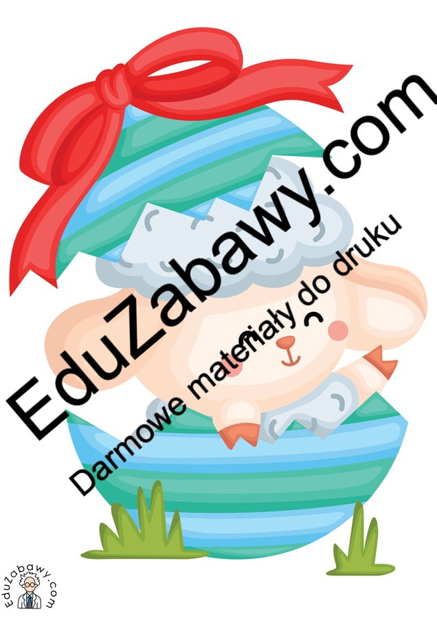 Dekoracje: Baranek wielkanocny (10 szablonów) Dekoracje Dekoracje (Wielkanoc) Wielkanoc