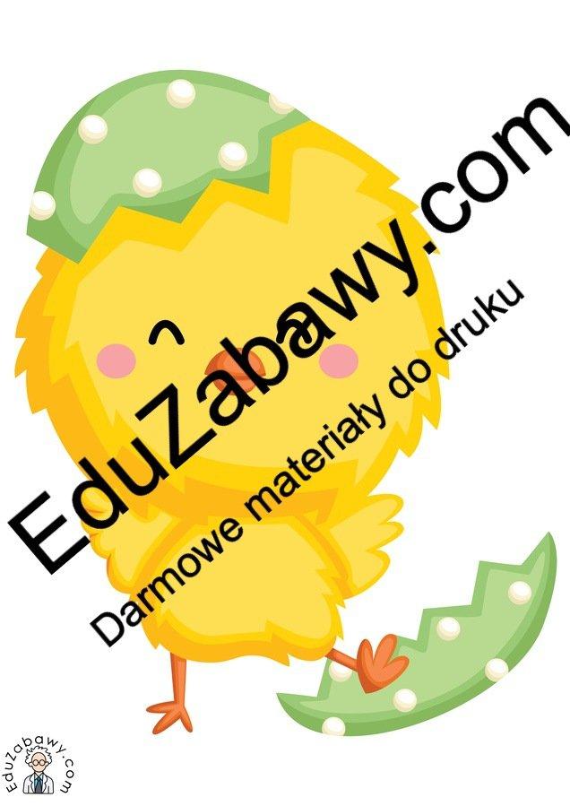 Dekoracje: Kurczaczek wielkanocny (10 szablonów) Dekoracje Dekoracje (Wielkanoc) Wielkanoc