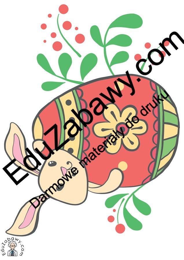 Dekoracje: Zajączek wielkanocny (10 szablonów) Dekoracje Dekoracje (Wielkanoc) Wielkanoc