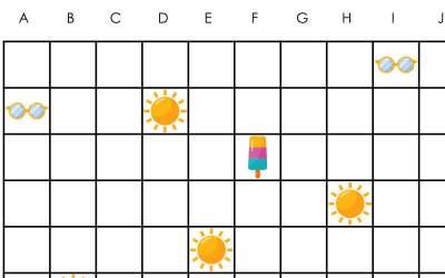 Lato: Kodowanie – Statki (10 kart pracy)
