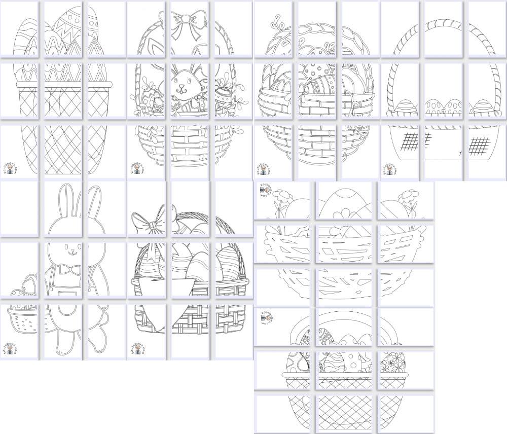 Kolorowanki XXL: Koszyk wielkanocny (8 szablonów) Kolorowanki Kolorowanki (Wielkanoc) Kolorowanki XXL Okolicznościowe (Kolorowanki) Wielkanoc