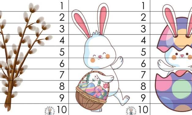 Wielkanoc: Puzzle 10 elementów (10 kart pracy)