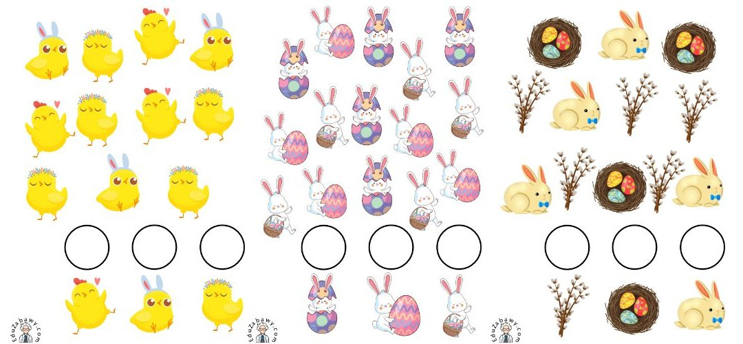 Wielkanoc: Bystre oczko (10 kart pracy)