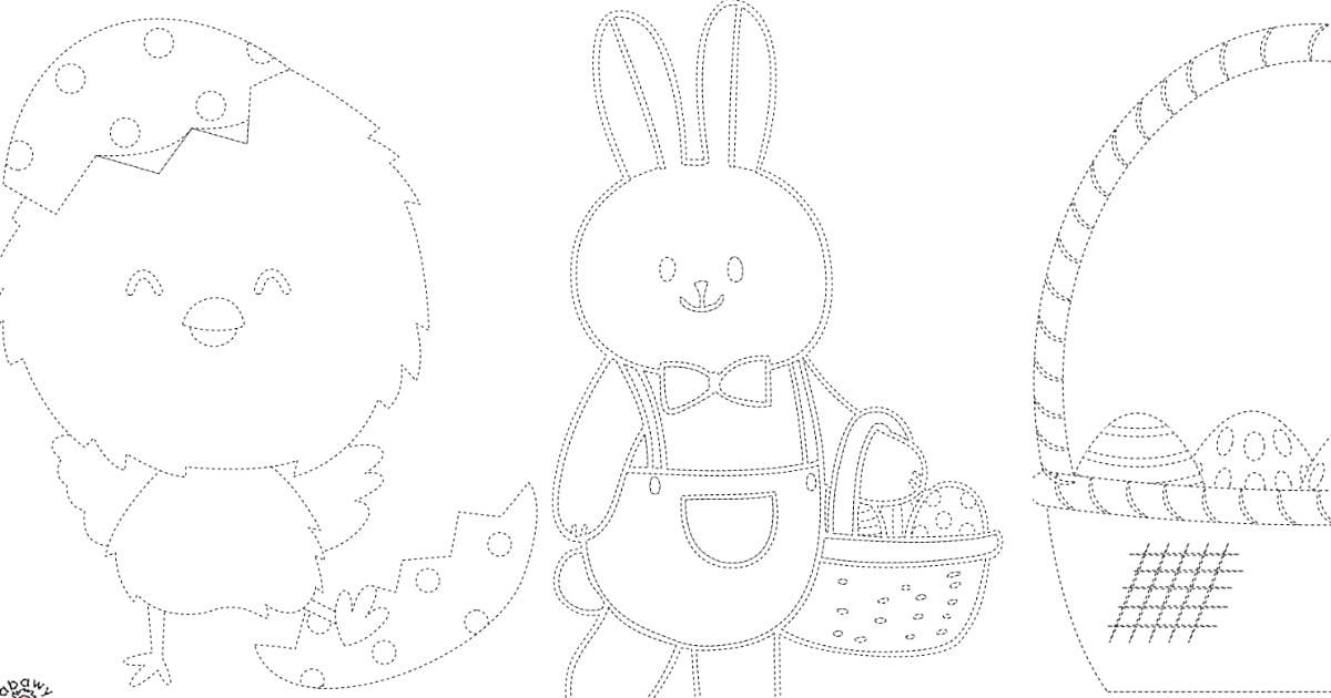 Wielkanoc: Grafomotoryka (10 kart pracy)