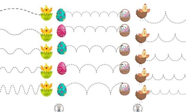 Wielkanoc: Szlaczki (10 kart pracy)
