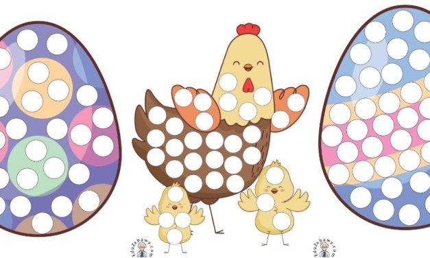 Wielkanoc: Wypełnij kolorem (10 kart pracy)