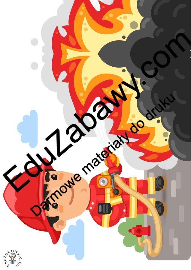 Dekoracje: Pożar, gaśnica, wóz strażacki (10 szablonów) Dekoracje Dekoracje (Dzień Strażaka) Dzień Strażaka