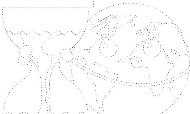 Dzień Ziemi: Grafomotoryka (10 kart pracy)