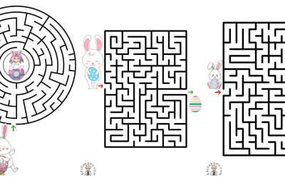 Labirynty na Wielkanoc (10 kart pracy)