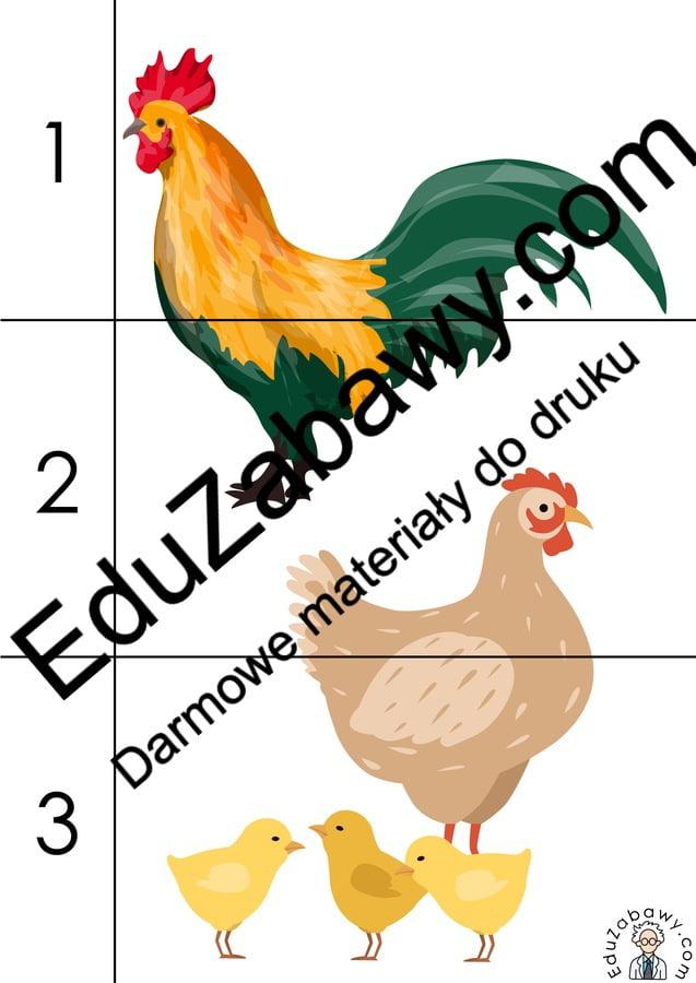 Na wsi: Puzzle 3 elementy (10 kart pracy) Karty pracy Karty pracy (Na wsi) Na wsi Puzzle