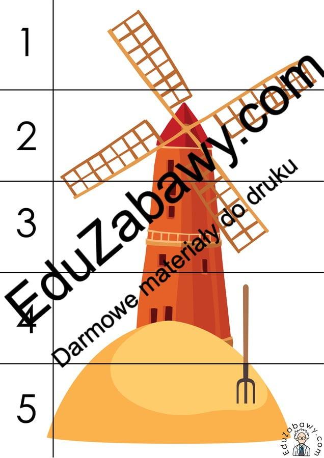 Na wsi: Puzzle 5 elementów (10 kart pracy) Karty pracy Karty pracy (Na wsi) Na wsi Puzzle