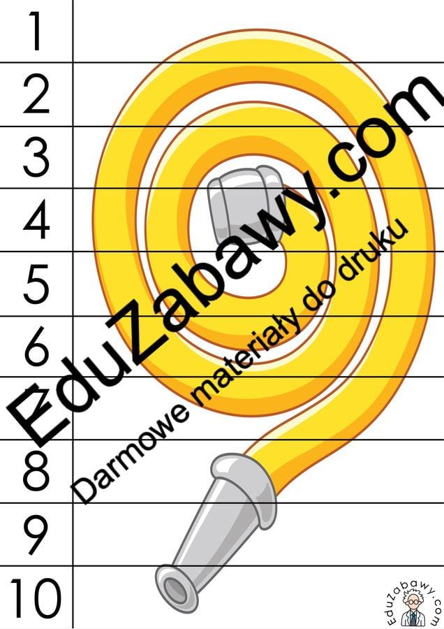 Strażak: Puzzle 10 elementów (10 kart pracy) Dzień Strażaka Karty pracy Karty pracy (Dzień Strażaka) Puzzle