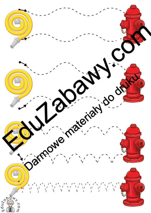 Strażak: Szlaczki (10 kart pracy) Dzień Strażaka Karty pracy Karty pracy (Dzień Strażaka) Szlaczki