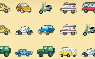 Gra online: Memory – Pojazdy
