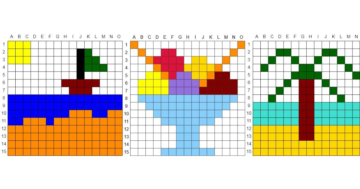 Kodowanie / Dyktando graficzne na Lato