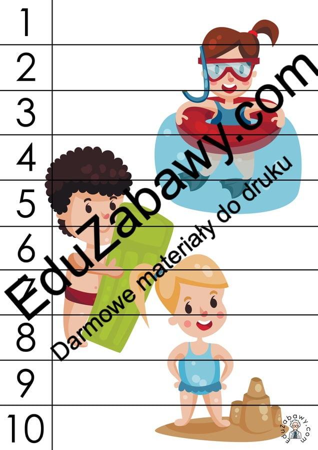 Lato: Puzzle 10 elementów (10 kart pracy) Karty pracy Karty pracy (Lato) Lato Puzzle