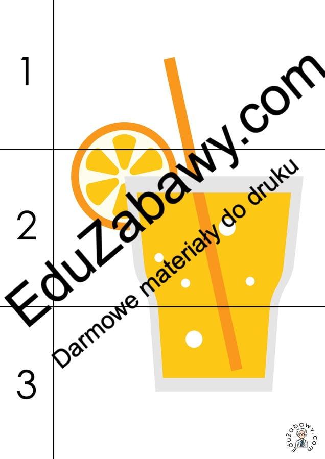 Lato: Puzzle 3 elementy (10 kart pracy) Karty pracy Karty pracy (Lato) Lato Puzzle