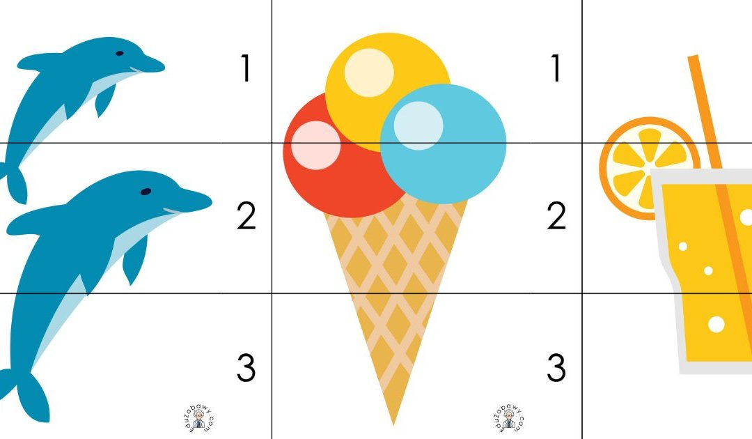 Lato: Puzzle 3 elementy (10 kart pracy)