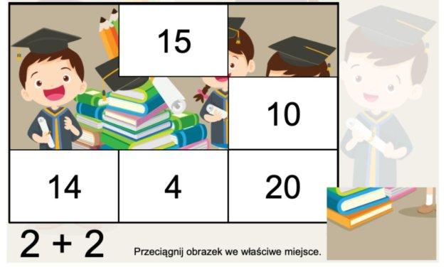 Gra online: Puzzle matematyczne: Przedszkole i szkoła