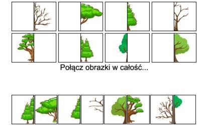 Gra online: Połącz obrazki: Drzewa