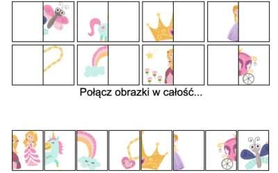 Gra online: Połącz obrazki: Księżniczki