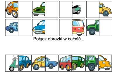Gra online: Połącz obrazki: Pojazdy