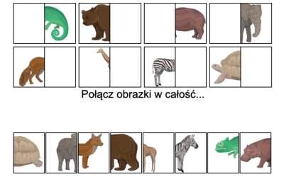 Gra online: Połącz obrazki: Zwierzęta dzikie