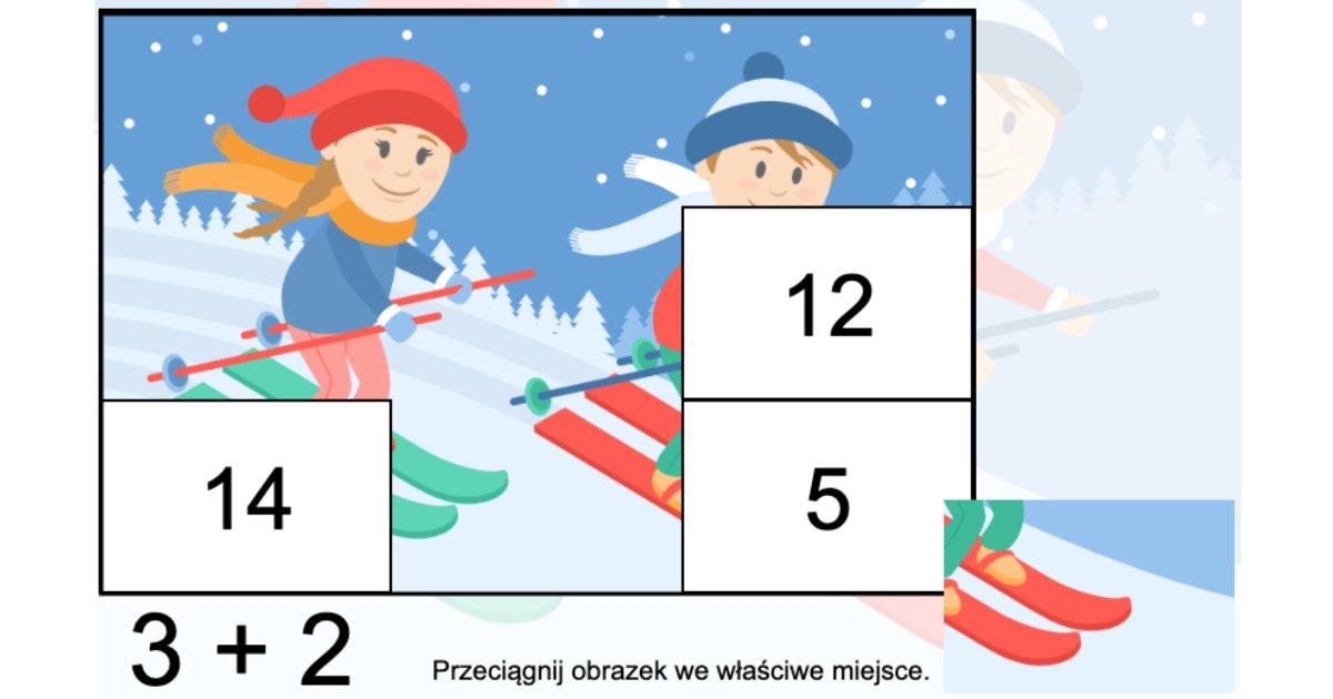 Gra online: Puzzle matematyczne: Zima