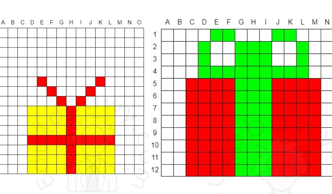 Kodowanie / Dyktando graficzne: Prezent