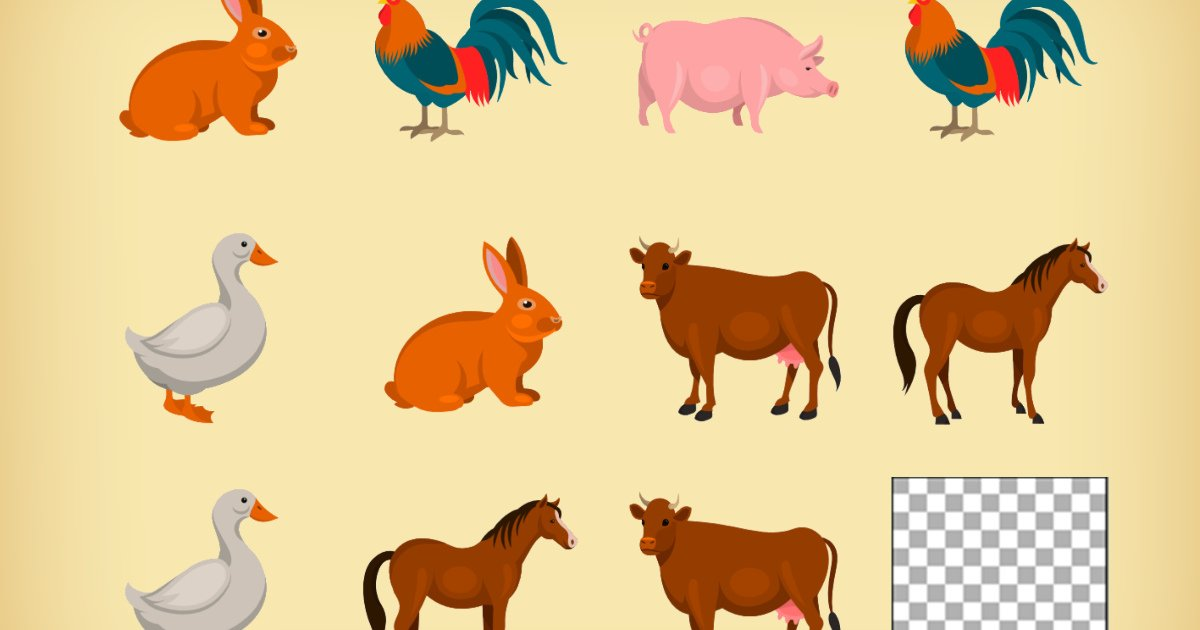 Gra online: Memory – Zwierzęta wiejskie