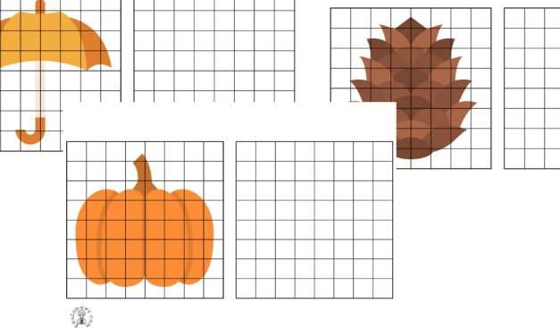 Przerysuj obrazek: Jesień
