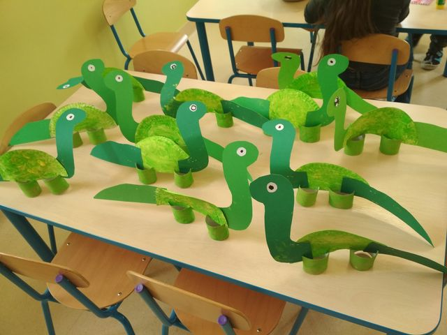Dinozaury z rolek i talerzyków