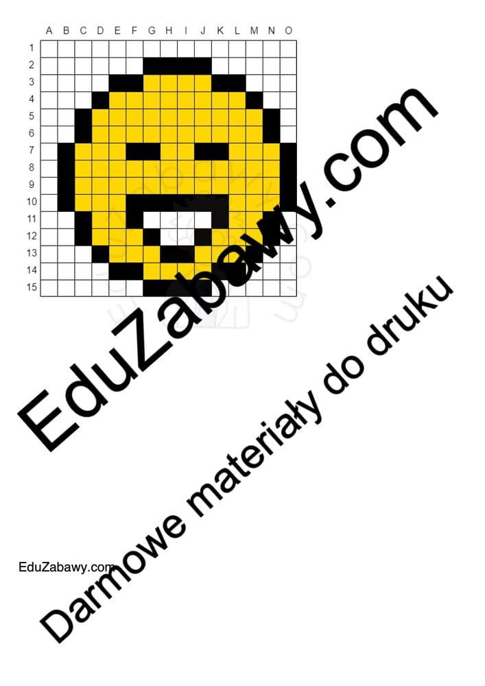 Kodowanie / Dyktando graficzne: Emocje / Uśmiech Dyktando graficzne Dzień Uśmiechu Karty pracy