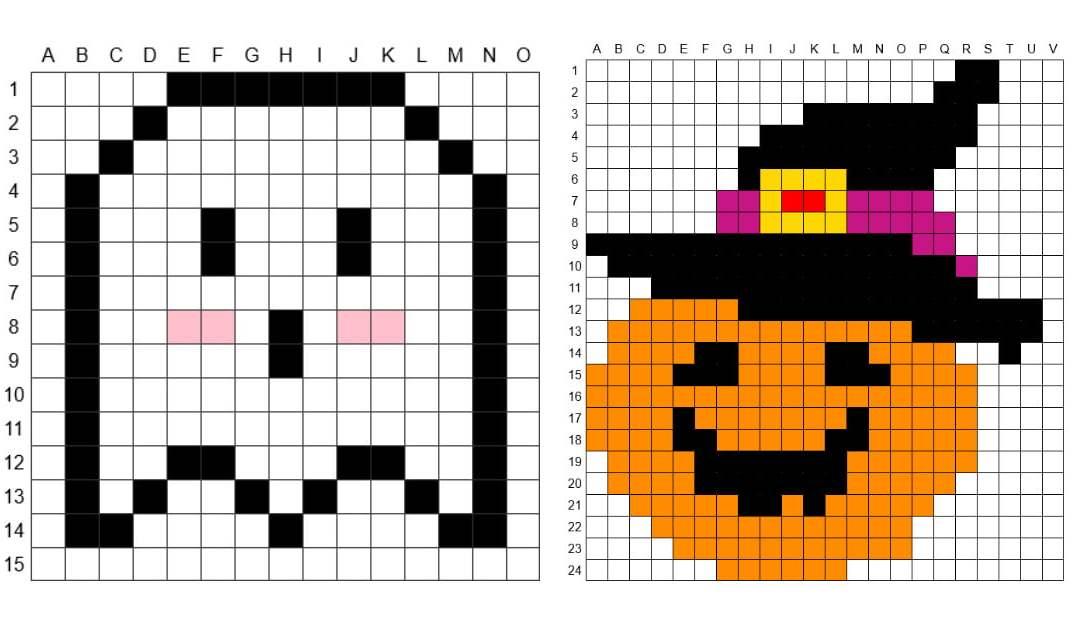 Kodowanie / Dyktando graficzne: Halloween