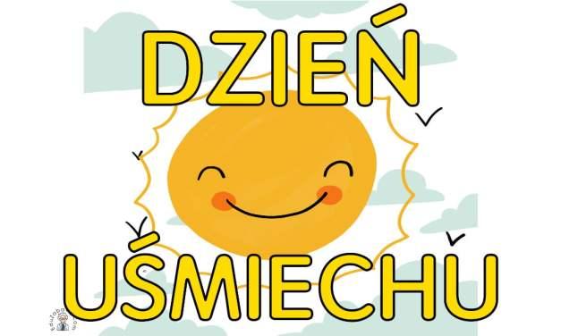 Plakat na Dzień Uśmiechu A4 i XXL: ze słońcem