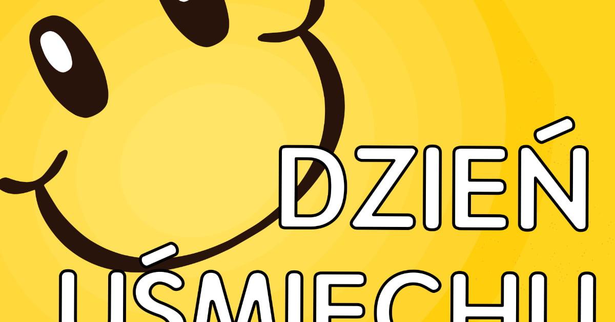 Plakat na Dzień Uśmiechu A4 i XXL: z emotką