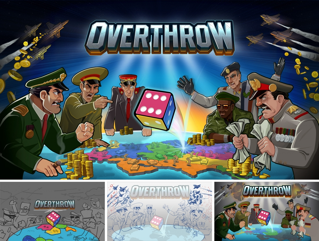 Overthrow promotional title and stages