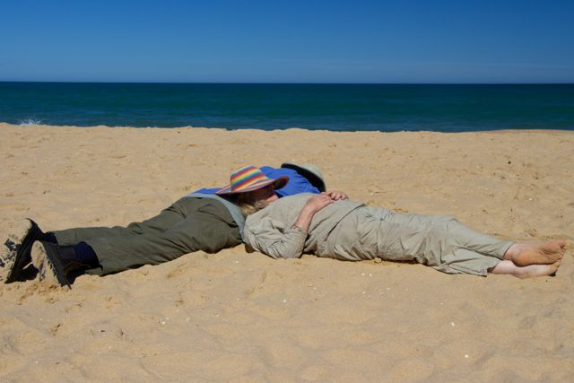 Robert & Jess- sand nap