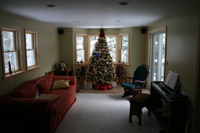 Once upon a time, we had a real house: This was my living room, Christmas 2007... our last holiday at home before we hit the road full time.