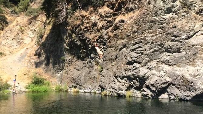 Eel River leap