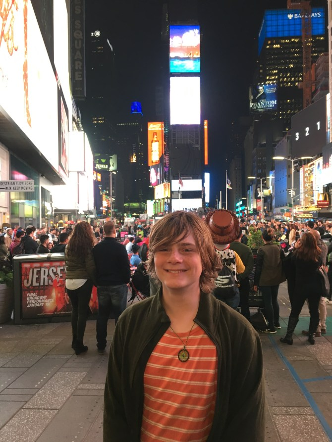 Ezra in Times Square